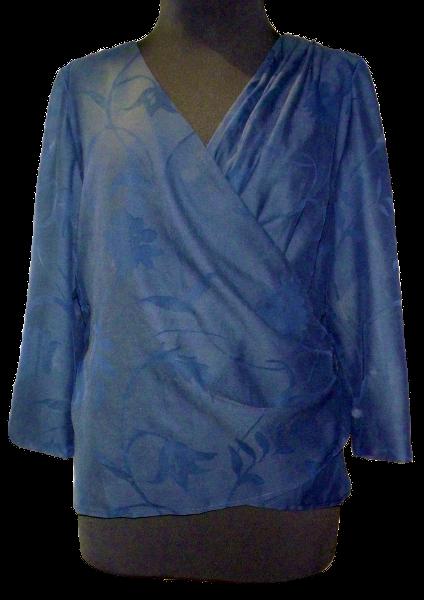 Wickelbluse blau