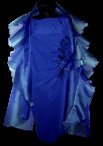 exklusives Kleid mit Stola