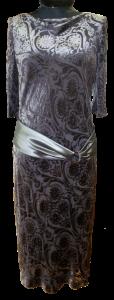 elegantes Kleid in Silberoptik